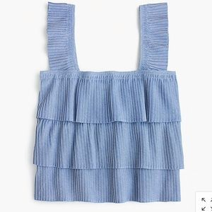 J. Crew Pleated Tank Top